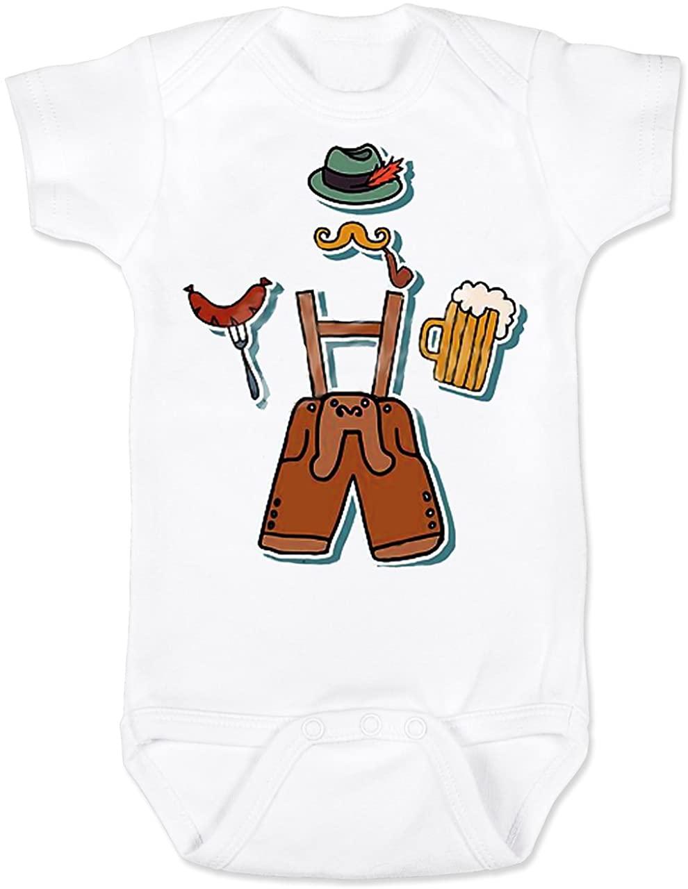 Vulgar Baby Bodysuit, Oktoberfest Lederhosen