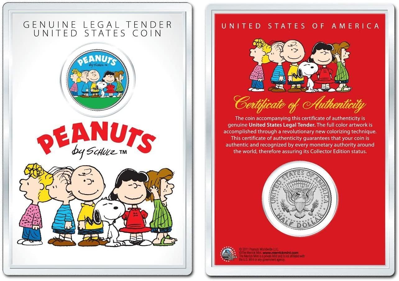 Peanuts * Original Gang * OFFICIAL JFK Half Dollar U.S. Coin in PREMIUM HOLDER