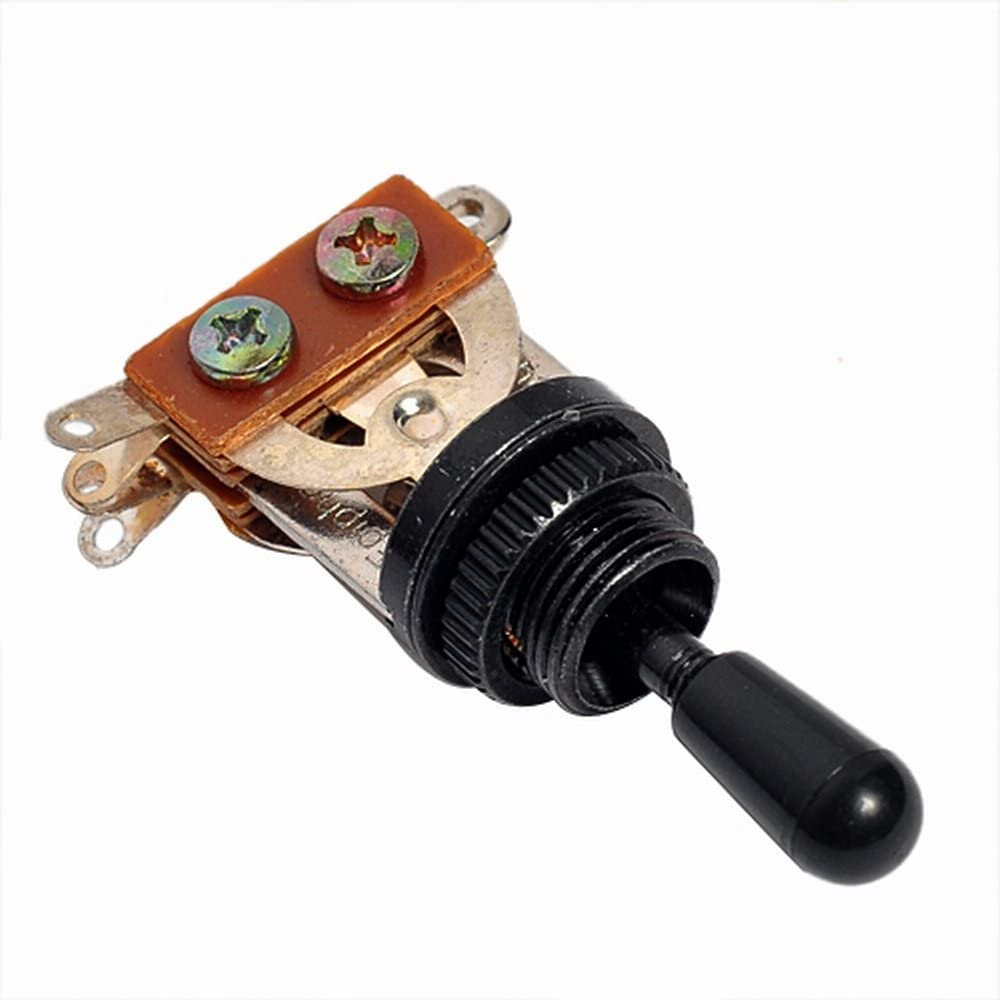 Kmise A0611 1 Piece 3 Way Toggle Switch Electric Guitar Part, Black