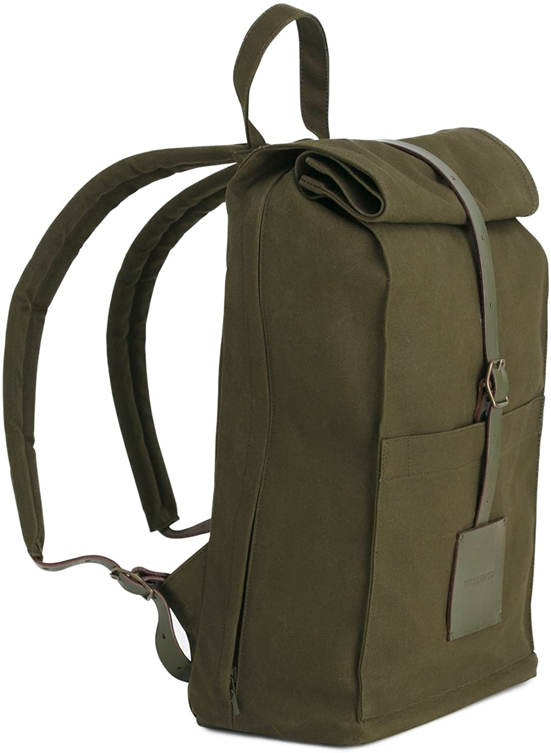 Thisispaper Top Roll Rucksack Army Green