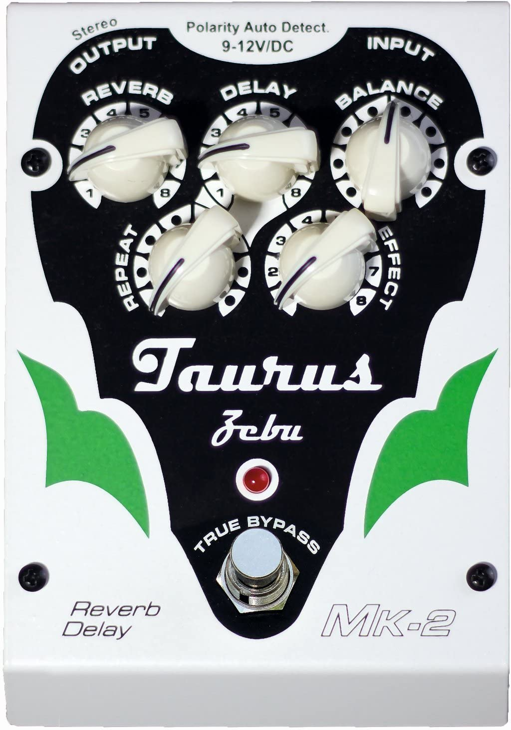 Taurus Amplifcation White Line Zebu MK2 Reverb-Delay Pedal