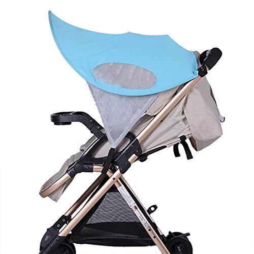 Baby Stroller Sun Shade Sun Protection Pram for Strollers Car Pushchair Buggy Sunshade Parasol Sun Rain Canopy Cover Protection Stroller Accessories Awning Anti-UV Umbrella Sun Shade (Blue)