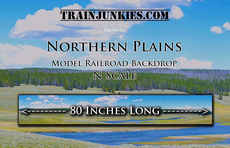 Train Junkies Northern Plains- Model Railroad Backdrop in N Scale