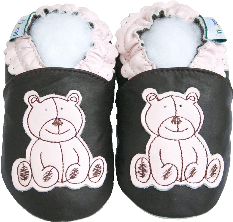 Jinwood Prewalk Baby Shoes Boy Girl Infant Children Kid Toddler Crib First Walk Gift Bear Pink