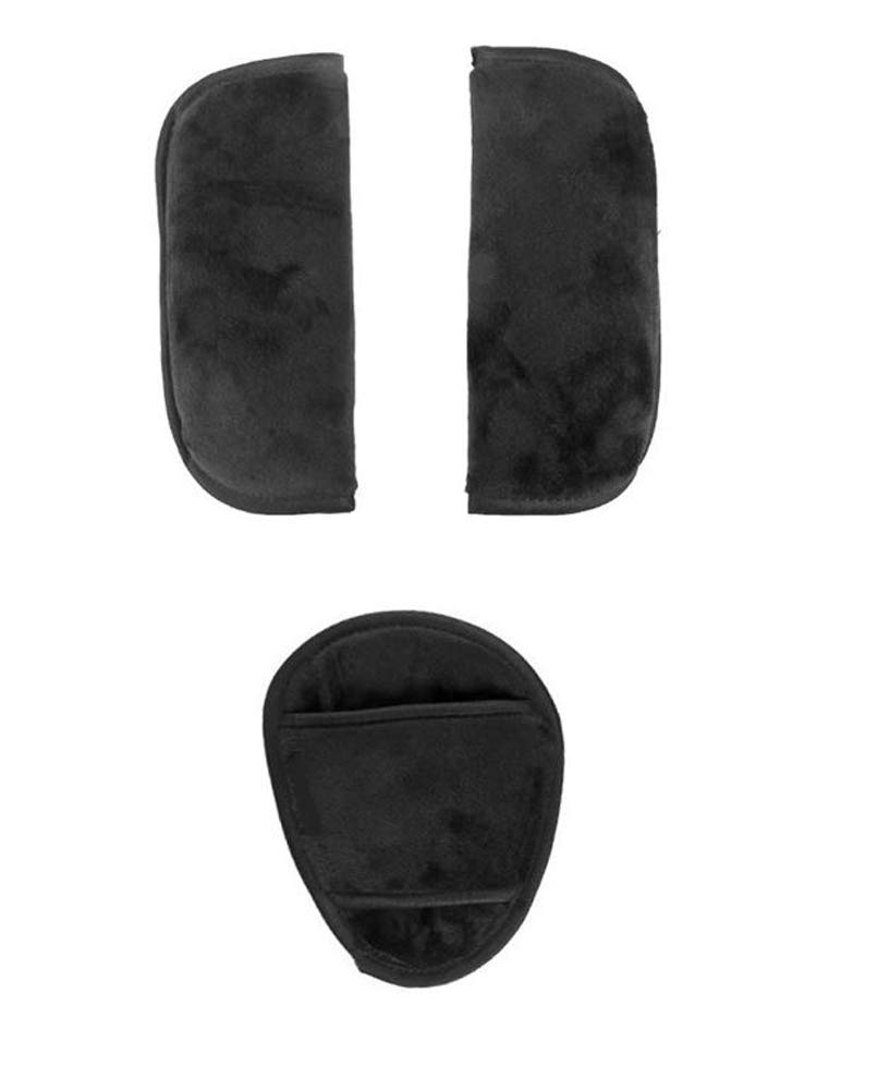 3 pc Cushion Shoulder Harness Pad Covers and Handlebar Covers Grips Slip On for Quinny Baby Child Strollers and/or Car Seats Accessories Replacement Parts (3 pc Cushions Only)