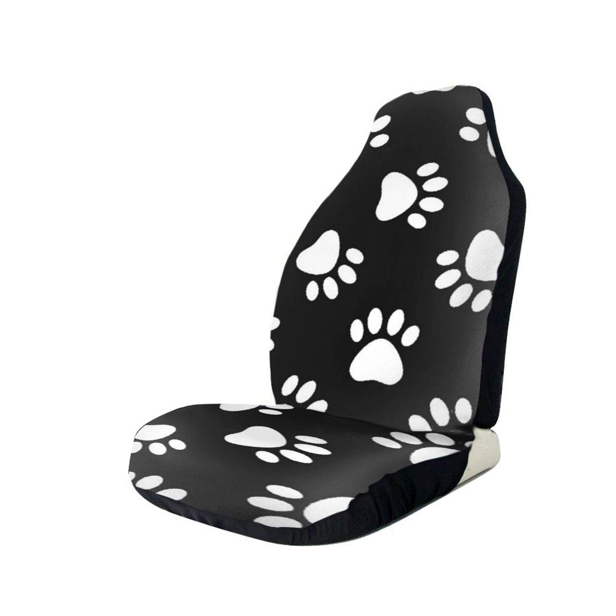 Car Seat Cover, Universal Car Seat Covers, Cat Dog Paw Print Seat Covers Universal for Front Seat, Automobile Seats Protector Fits Most Car Trucks SUV