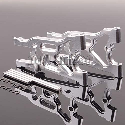Parts & Accessories New Enron 2PCS RC CAR Part RC 1/10 HPI WR8_Flux Aluminum Rear Lower Suspension Arm WR80005 for 1/10 RC 107900 4Color - (Color: Silver)