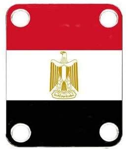 Custom Graphical Guitar Neck Plate Neckplate Flag Egypt