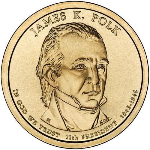 2009 D Mint James K. Polk Presidential Dollar Unc. US Coin