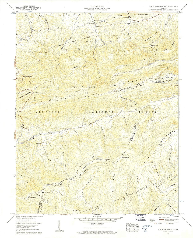 Map Print - Whitetop Mountain, Virginia (_195), 1:_24000 Scale - 24