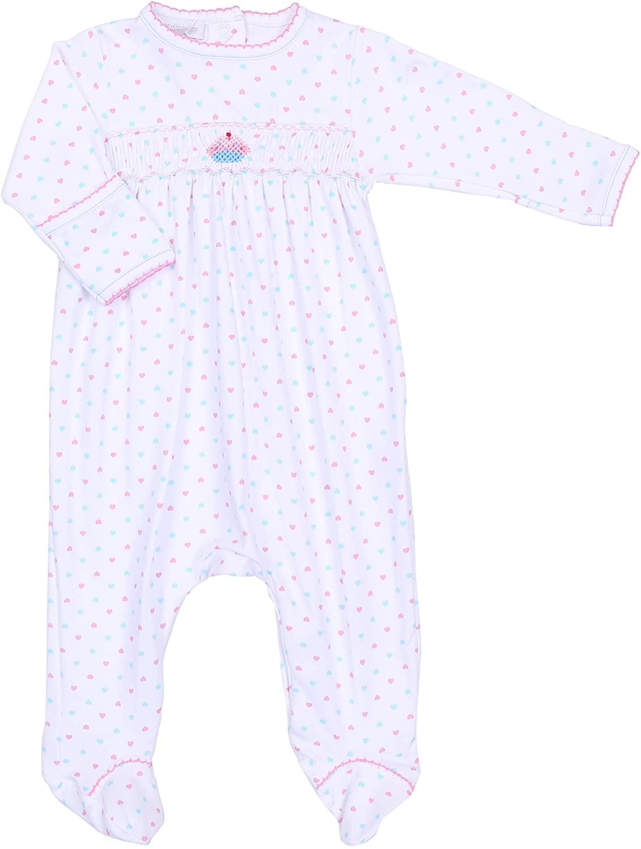 Magnolia Baby Baby Girl Cute Cupcake Smocked Footie Pink