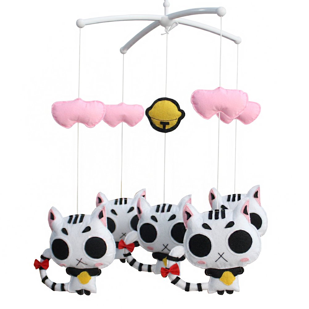 Educational Baby Crib Toy Attachments Nursery Decor Lullaby Musical Crib Mobile for Newborn Baby-A36
