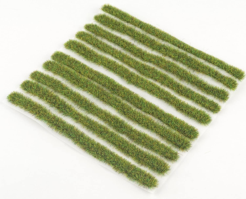 4mm Spring Grass Strips x 10 by WWS Model Railway Diorama Scenery Terrain