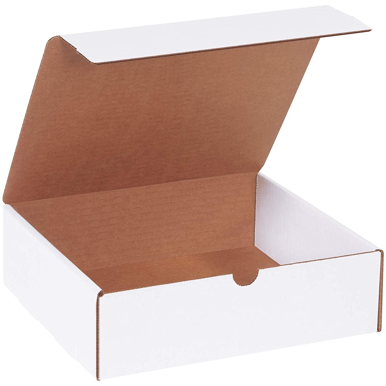 BOX USA BML1093 Literature Mailers, 10 x 9 x 3, White (Pack of 50)