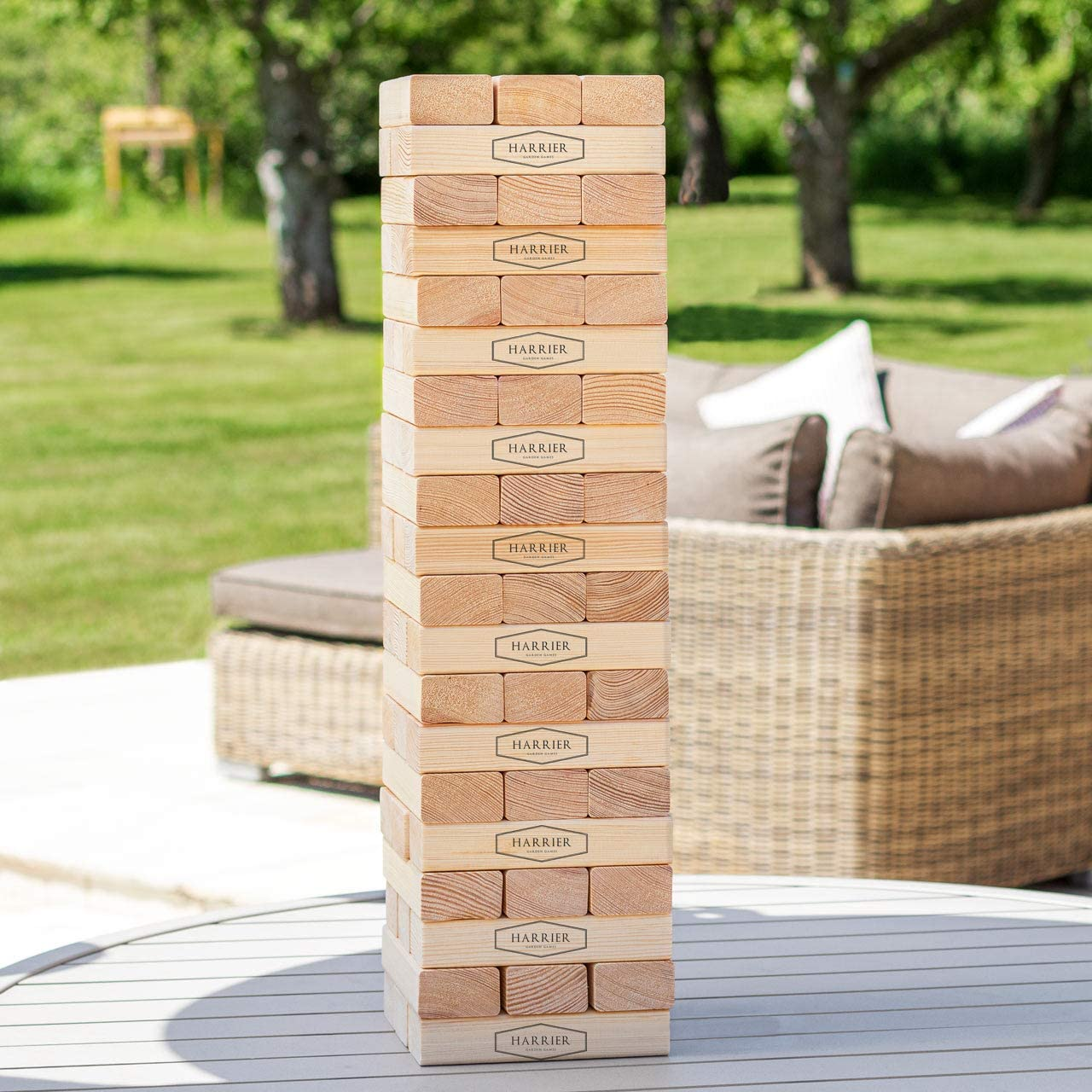 Giant Tumble Tower | Carry Bag Included | Premium Pine Wood Blocks