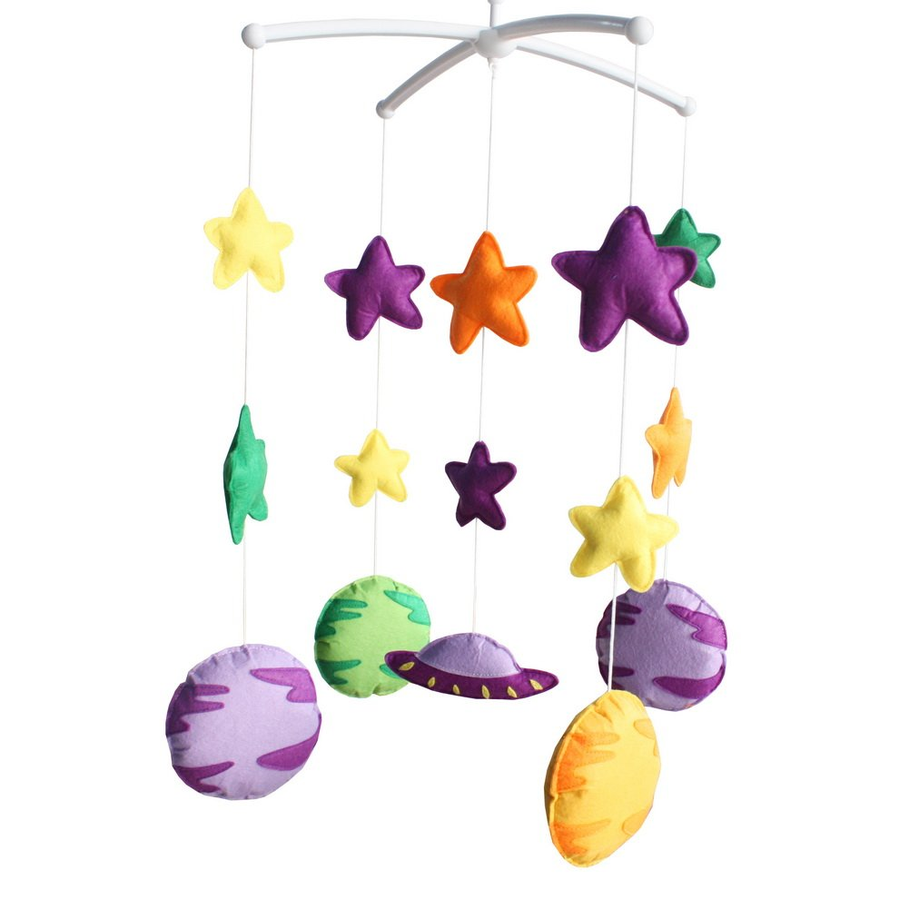 Bed Bell Baby Crib Mobile Lullaby Musical Mobile Baby Bed Educational Toys Newborn Nursery Decor Baby Toy-D37