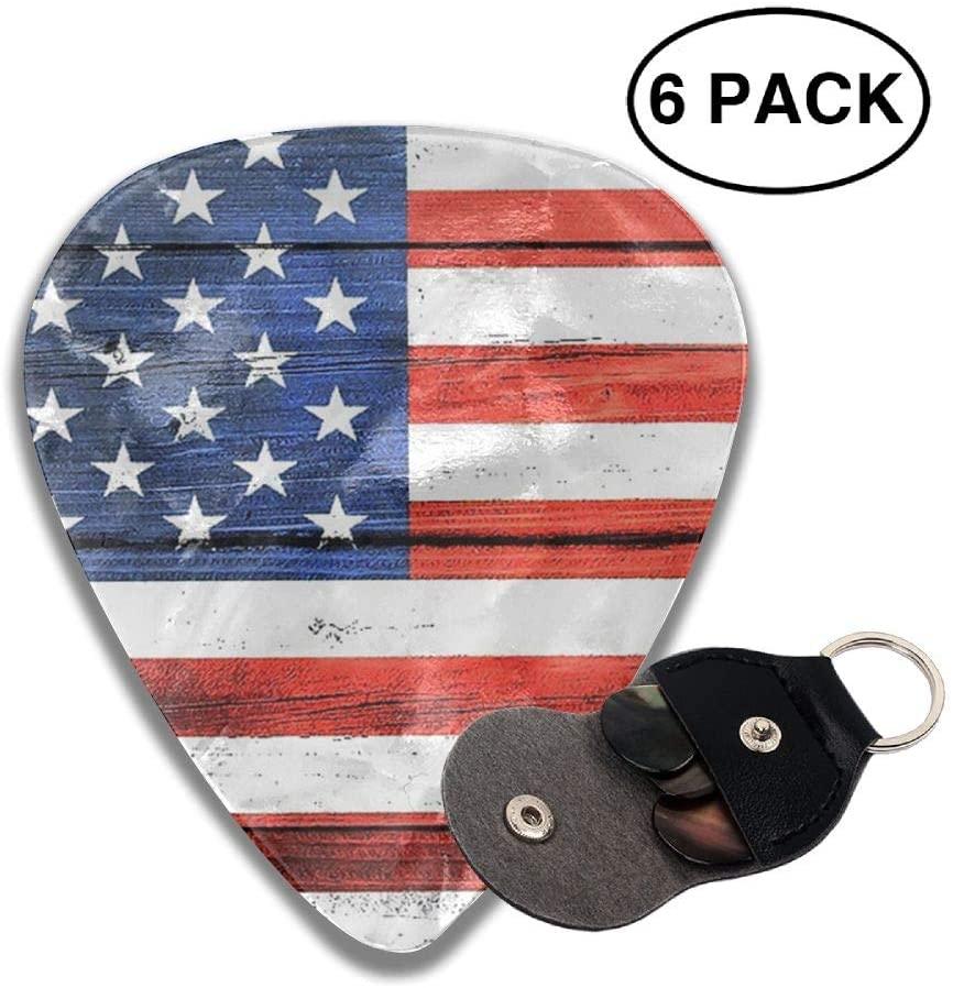 Ruin American Flag Celluloid Guitar Picks Plectrum for Guitar Bass