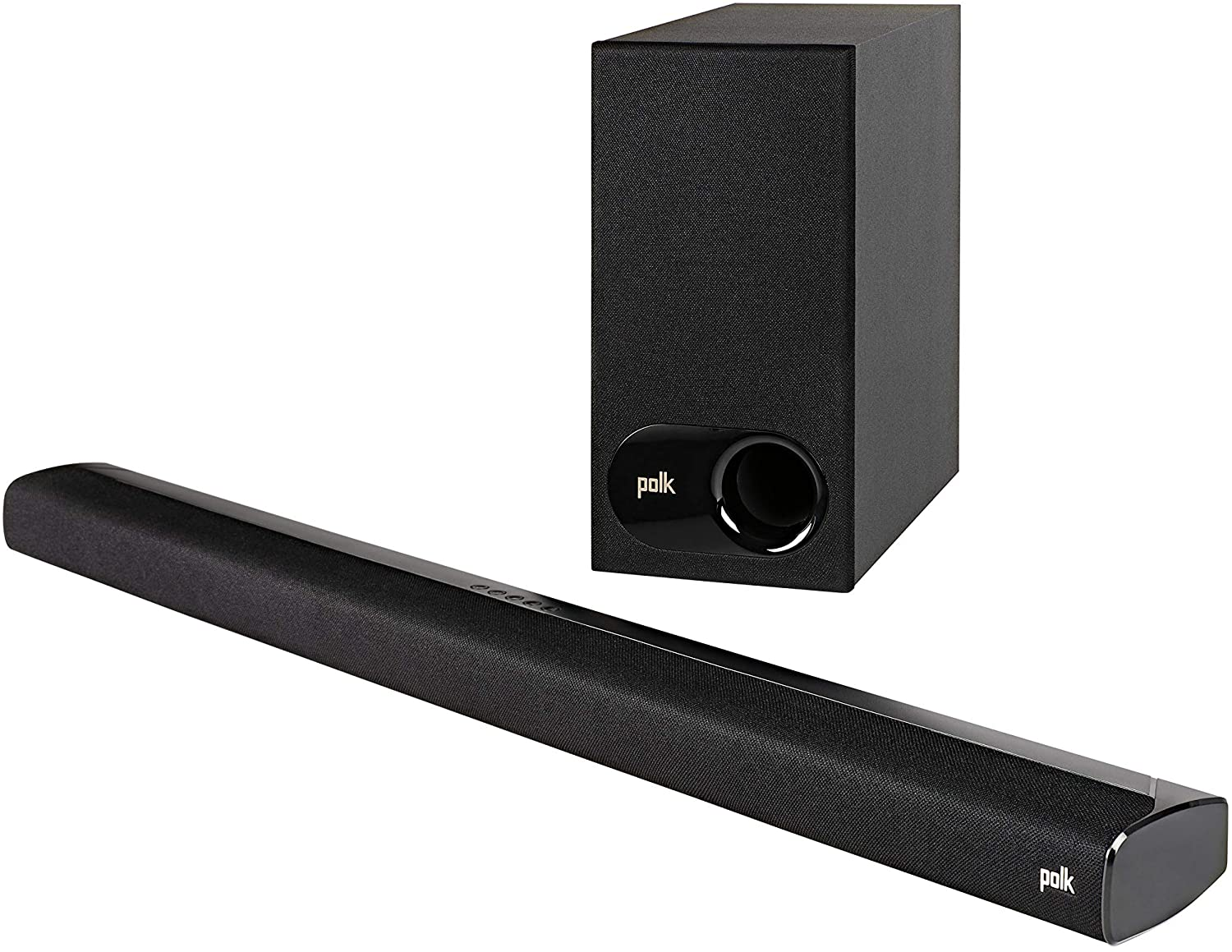 Polk Audio Signa S2 Ultra-Slim TV Sound Bar | Works with 4K & HD TVs | Wireless Subwoofer | Includes HDMI & Optical Cables | Bluetooth Enabled, Black