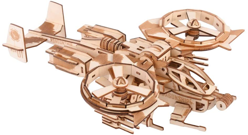 Wooden Model 3D Puzzles for Adults Wooden Laser Engraving DIY Safe Assembly Airplane Kit for Kids Teens and Adults Scorpion Warcraft Model 3-D Models Self-Assembly Wood Crafts 3D Puzzle Gifts