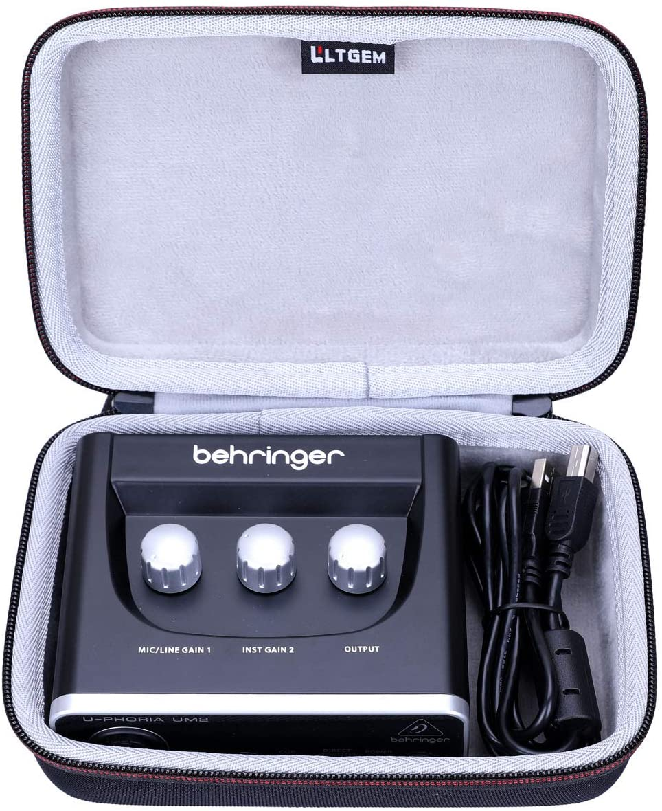 LTGEM Hard Travel Case for BEHRINGER Audio Interface 1-Channel (UM2)