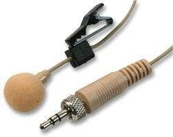 PULSE MIC-500LJ Beige Lavalier Microphone with Tie Clip and 3.5mm Locking Plug - Beige