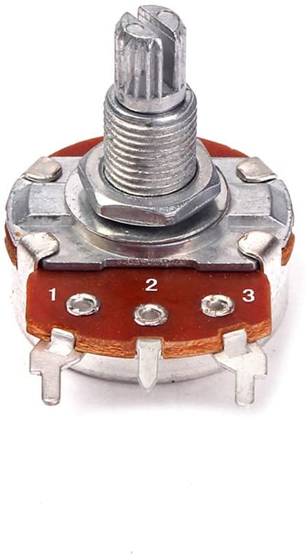 Healifty B250k Guitar Potentiometers Long Knurled Split Shaft Audio Taper Potentiometer 18mm