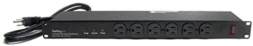 StarTech.com 1U Rackmount 16 Outlet PDU Power Distribution Unit (RKPW161915) -