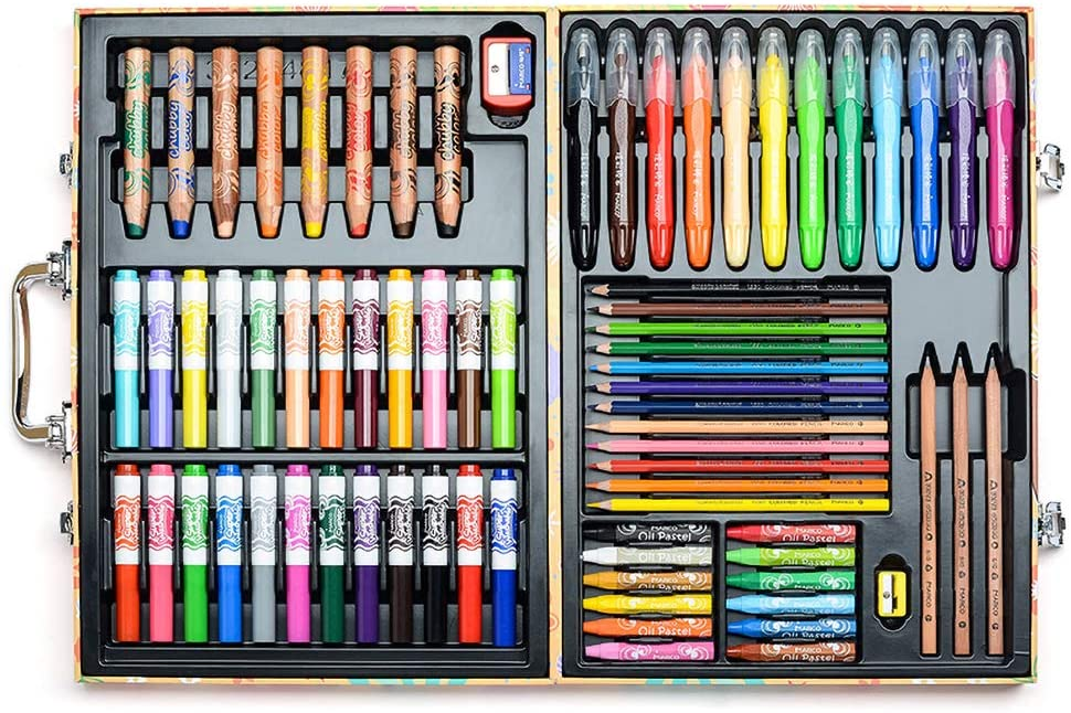 TONGQINH Disney custom gift box coloring oil pastel watercolor pen 77 pieces