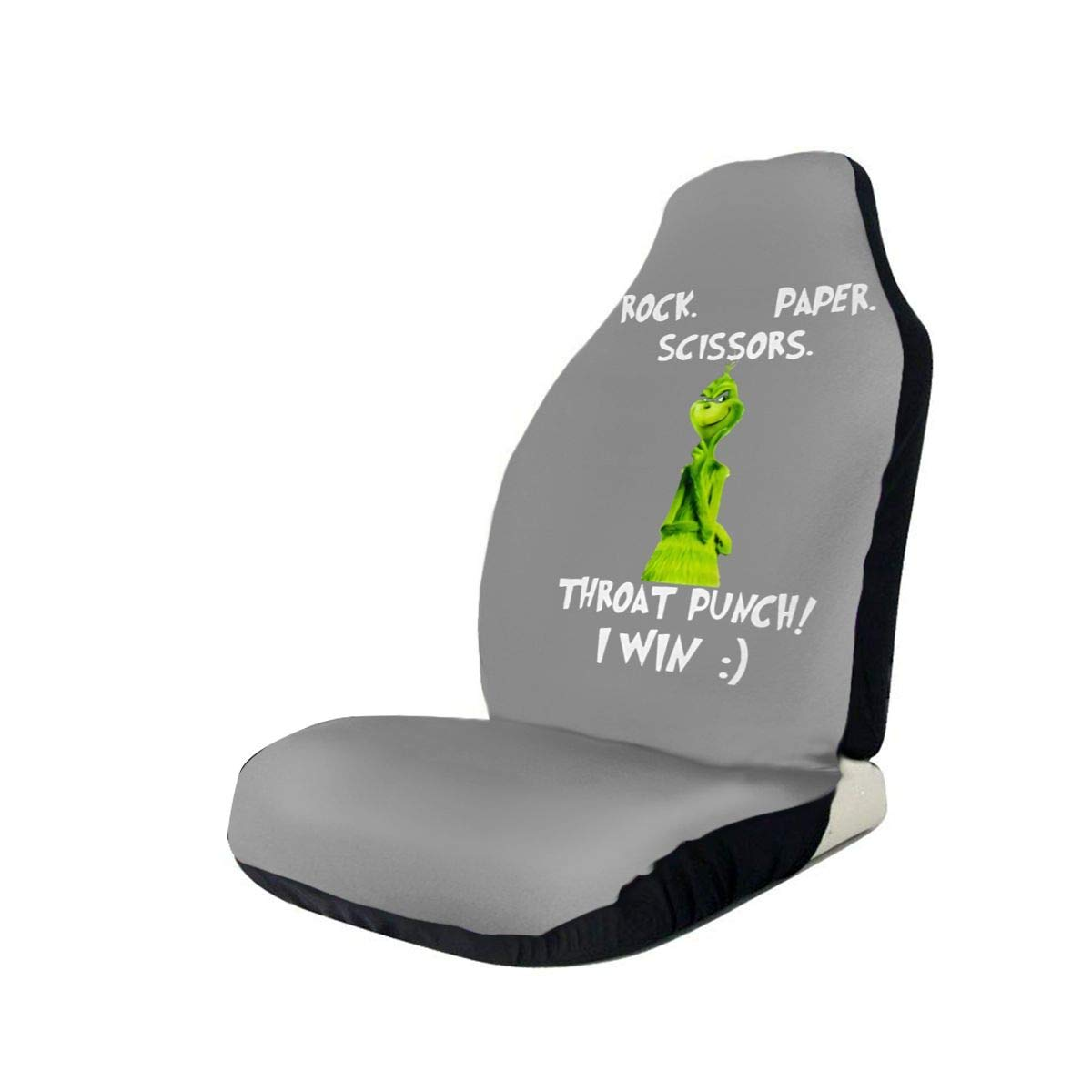 The Grinch Rock Paper Scissors Throat Punch I Win Classic Car Seat Covers Car Seat Protector Covers ,Fit Most Cars, Sedan, SUV,Van
