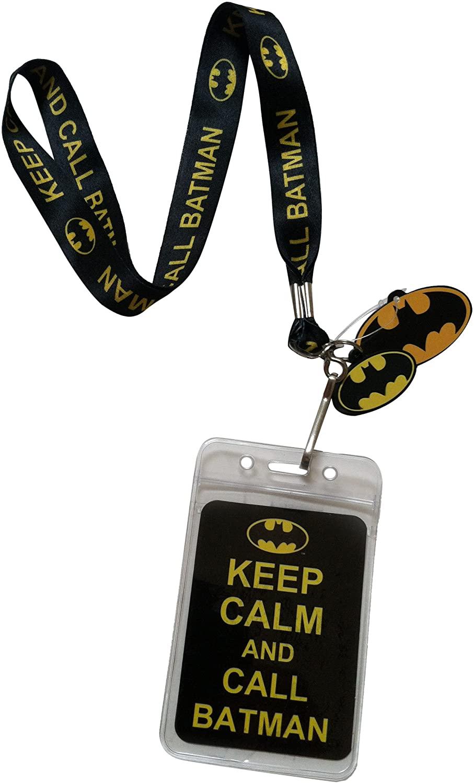 C&D Visionary Lanyard with Charm DC Comics Batman Keep Calm and Call Batman Lanyard