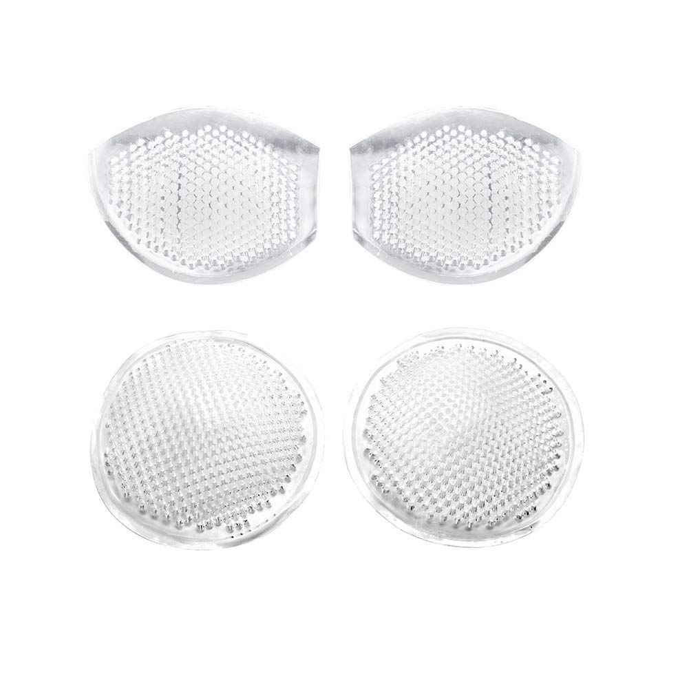 LITA Honeycomb Silicone Bra Inserts,Semi-Adhesive Breathable Breast Enhancers,Push Up Booster Pads-2 Pairs White