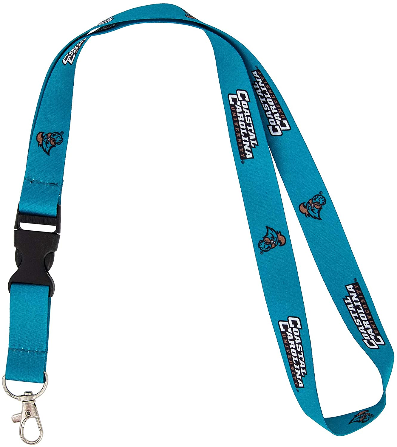 Coastal Carolina University CCU Chanticleers NCAA Car Keys ID Badge Holder Lanyard Keychain Detachable Breakaway Snap Buckle