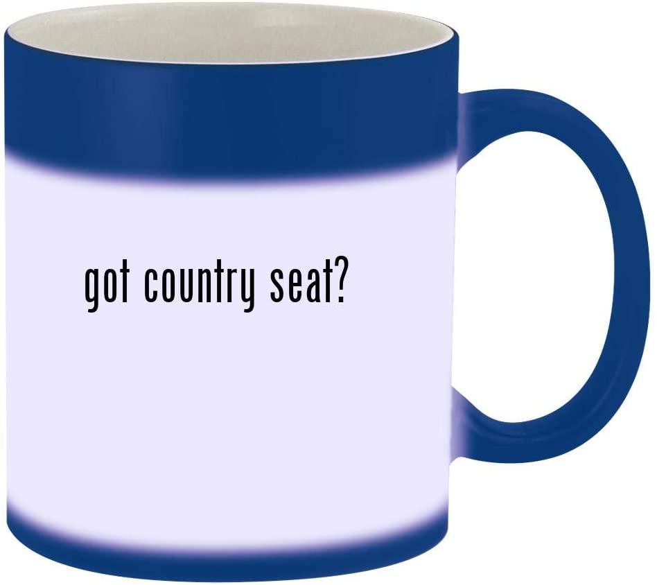 got country seat? - 11oz Magic Color Changing Mug, Blue