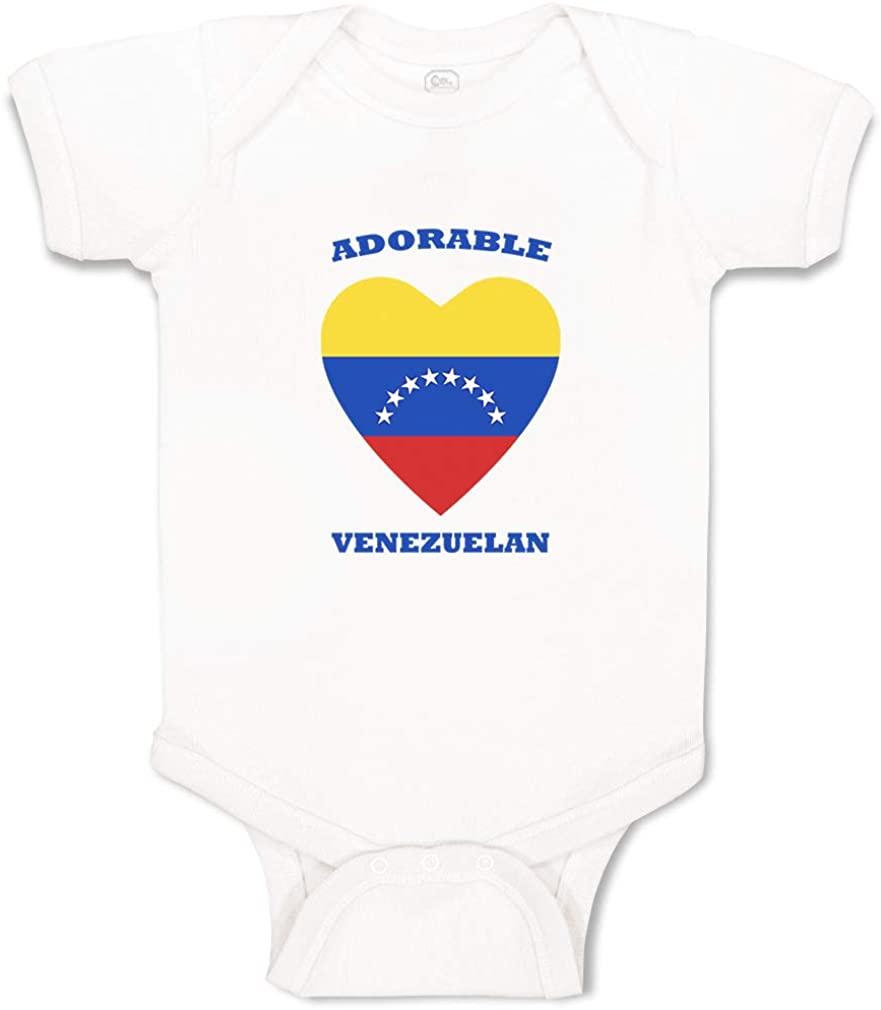 Custom Boy & Girl Baby Bodysuit Adorable Venezuelan Heart Cotton Baby Clothes