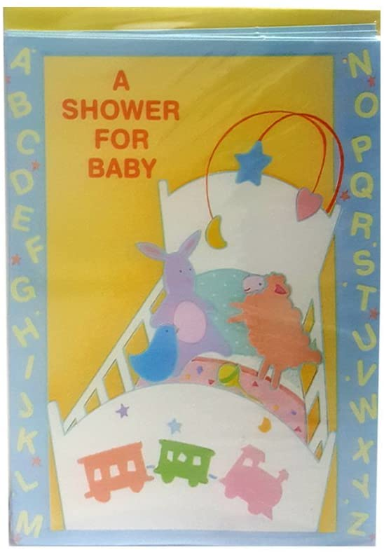 Carlton Cards Baby Shower Invitations Train Cradle ABCs w/Envelopes (8-Count)
