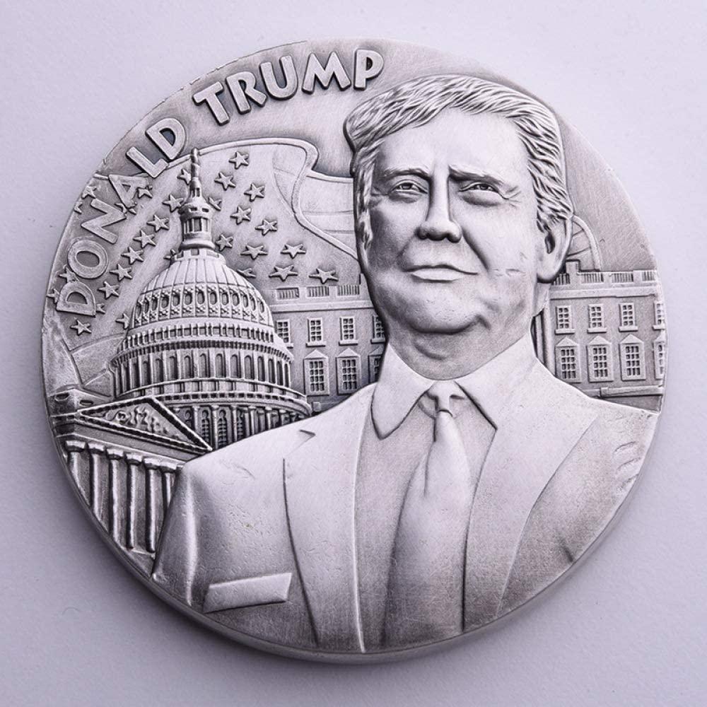Us President,Trump,Alloy,Big Commemorative Coin,Coin,80Mm,265G,45Th Fine Craft/Silver/Uniform Code