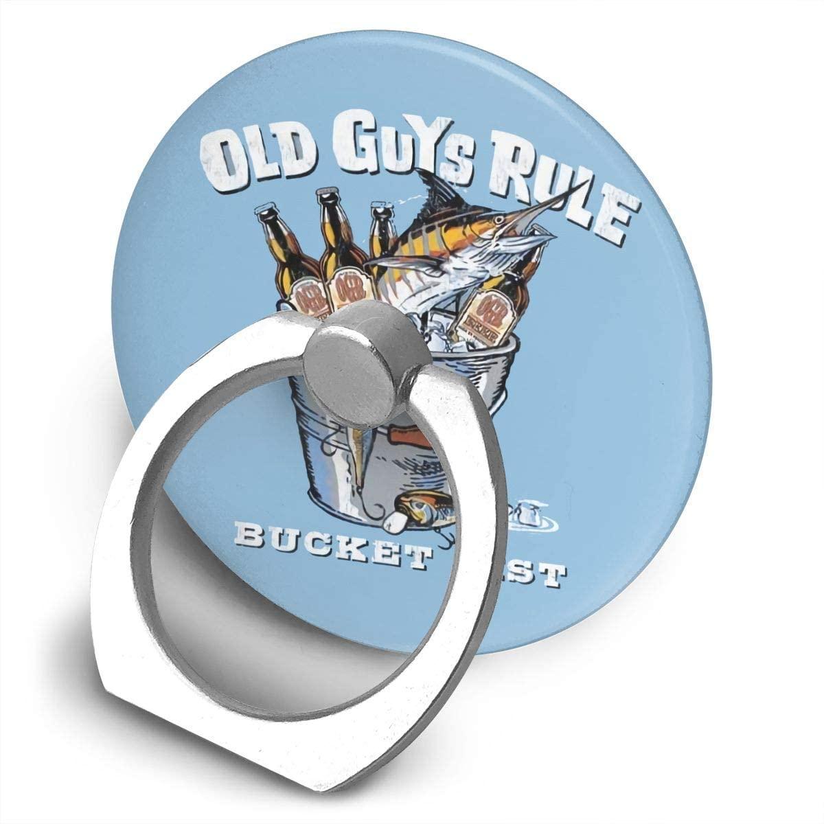 Levoncar Bucket List Alloy Mobile Phone Ring Bracket,360 Degree Rotating Ring Stand Grip Mounts