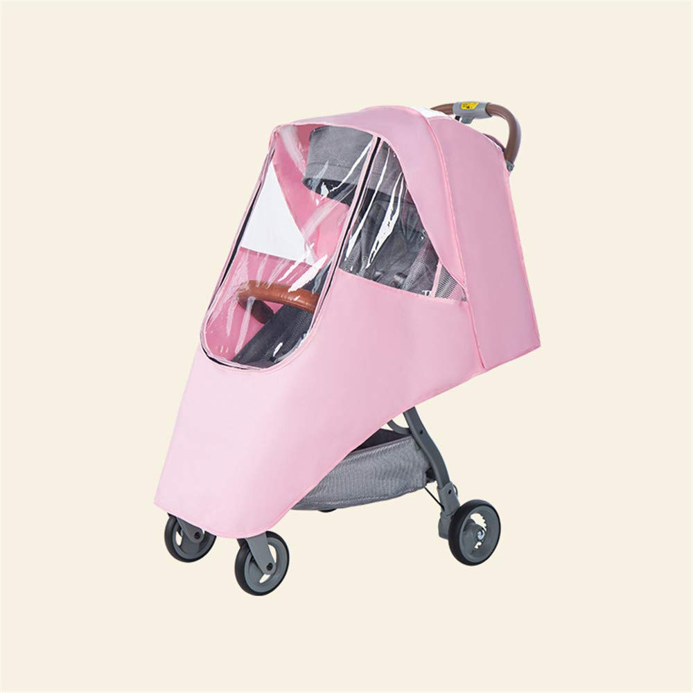 QINQI Stroller Rain Cover Universal Size Baby Travel Weather Shield, Windproof Waterproof, Protect from Dust Snow,Gray