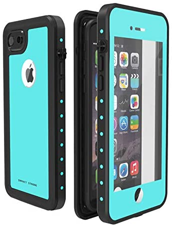 ImpactStrong iPhone 7/8 Waterproof Case [Fingerprint ID Compatible] Slim Full Body Protection for Apple iPhone 7 and iPhone 8 (4.7 inch) - Ocean Blue
