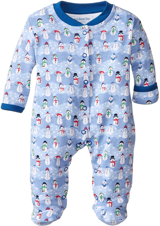 Jojo Maman Bebe Unisex-Baby Newborn Snowman Footie