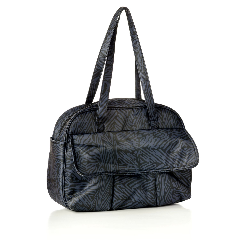 Bumkins Nixi Arcata Recycled Fabric Diaper Bag, Black