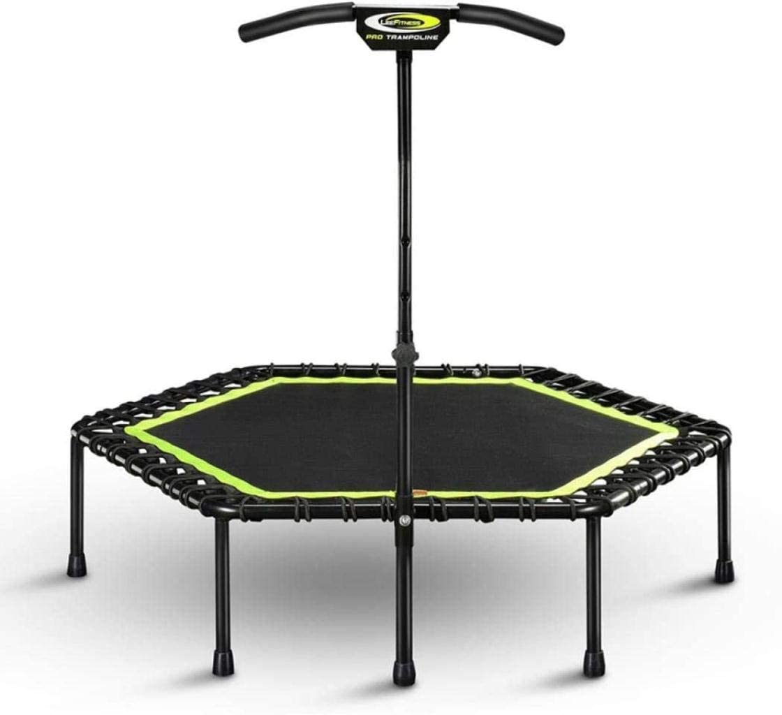 DIMPLEYA Small Silent Trampolines with Handle Foldable Rebounder Trampoline for Adults Kids Indoor Outdoor Garden Yoga Workout Exercise Fitness Cardio