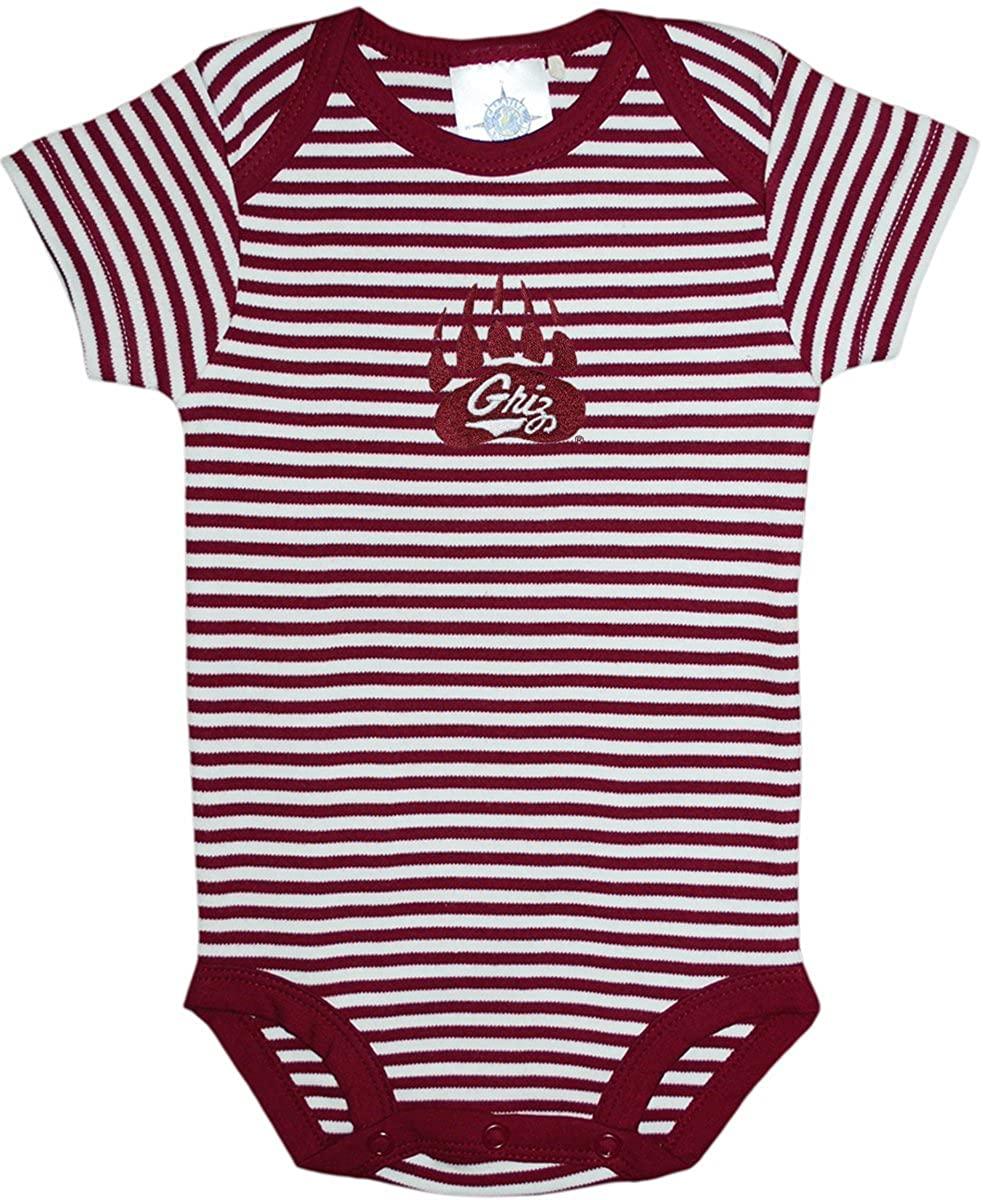 Creative Knitwear University of Montana Grizzlies Striped Baby Bodysuit