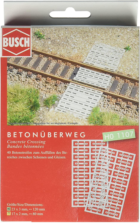Busch 1107 Concrete Crossing HO Scenery Scale Model Scenery