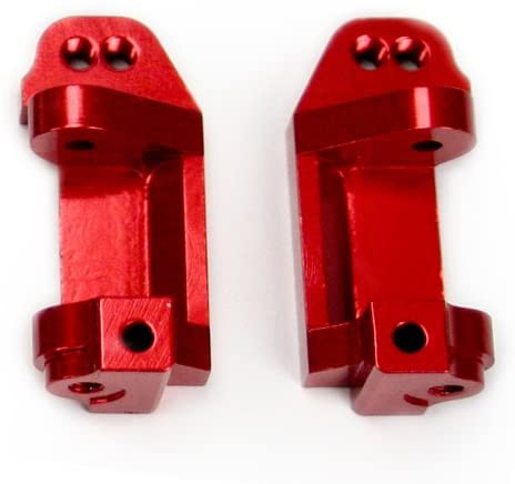Atomik RC Alloy Caster Block, Red fits The Traxxas 1/10 Slash and Other Traxxas Models - Replaces Traxxas Part 3632