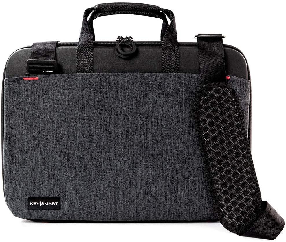 KeySmart Urban Portfolio Briefcase (w/Pocket Organizer, Portable Charger)