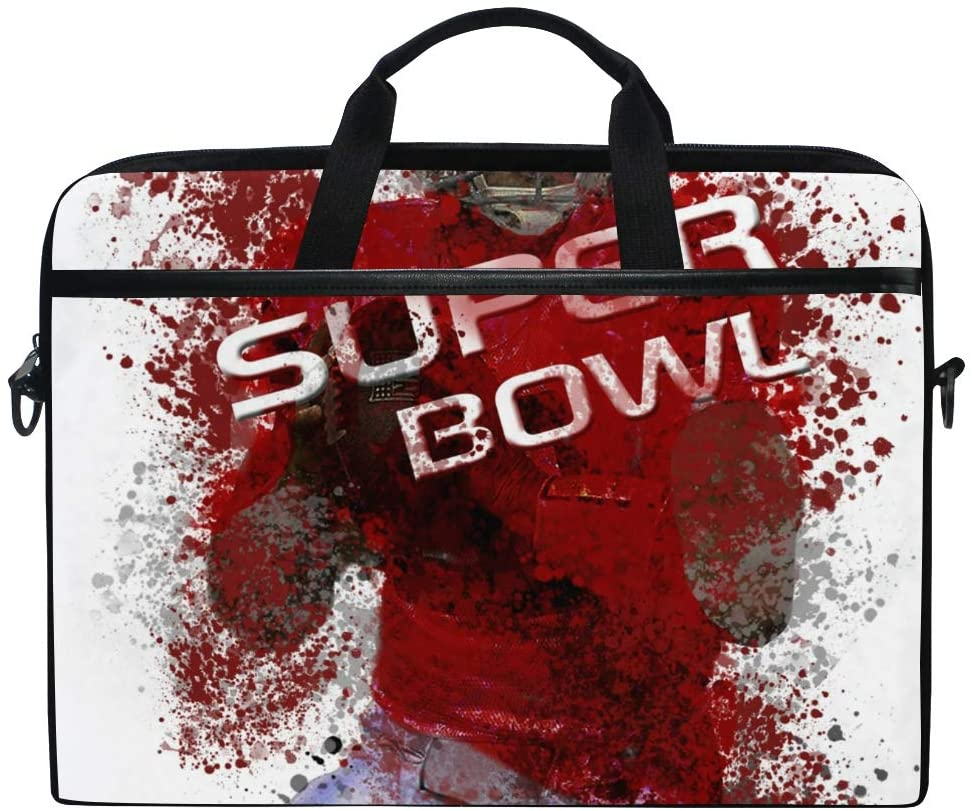 Football Player Mens and Womens Computer Bags, Handbags, Briefcases, Shoulder Bags, Suitable for 15 Inch Computers