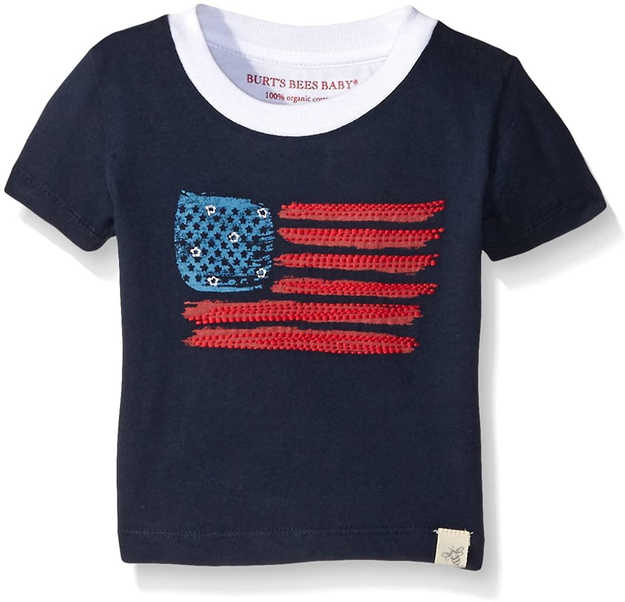 Burts Bees Baby Baby Boys T-Shirt, Short Sleeve V-Neck and Crewneck Tees, 100% Organic Cotton