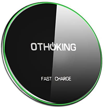 iPhone Wireless Charger, OthoKing 7.5W Fast Wireless Charger for iPhone XS/XR/X/8, 10W Fast Wireless Charging Pad Quick Charge for Samsung Galaxy S9/S9 Plus/Note 8/ S8/S8 Plus, 5W for All Qi-enabled P