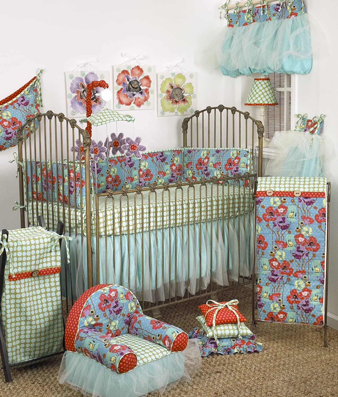 Cotton Tale Designs Lagoon 8 Piece Set, Turquoise/Purple/Orange/Green, Standard Crib
